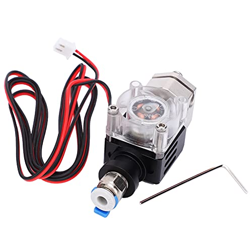 Extruder, 3D Printer Hotend Extruder Kit Stainless Steel Nozzle with 70cm/27.6in Cable for Ender 3 with Excellent Heat Insulation Performance(24V)