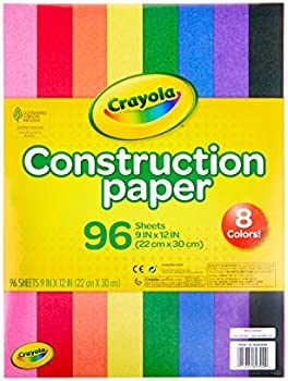 96-Count Crayola 9 x 12 Inch Construction Paper