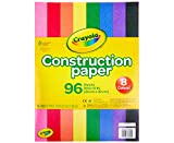 "Crayola Construction Paper, School Supplies, 96 ct Assorted Colors, 9"" x 12"""