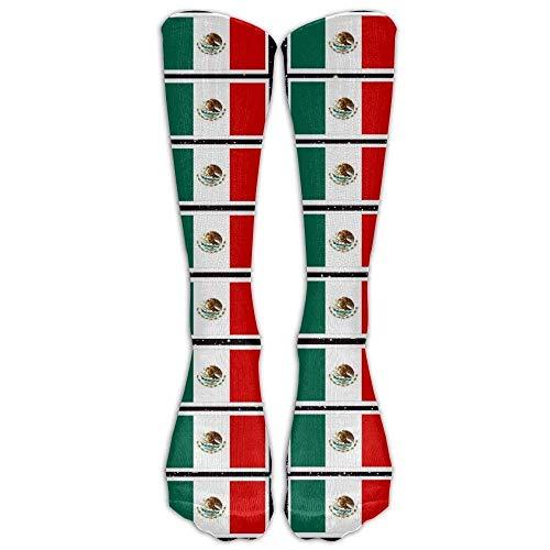 GHJL Kleurplaten Mexicaanse Vlag Printbaar Zachte Casual Modieuze Lange knie Hoge Sokken Kousen (volledige Print)