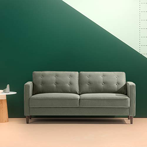 ZINUS Lauren Sofa Couch / Button Tufted Cushions / Easy, Tool-Free Assembly, Pear Green
