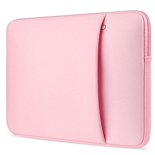 Ivencase 13-13,3 Pollici Neoprene Custodia Borsa / Involucro Sleeve Case per Laptop / Notebook / Computer Portatile / Macbook Pro 13'' / Macbook Air 13''/ Macbook Pro retina display 13'' - Rosa
