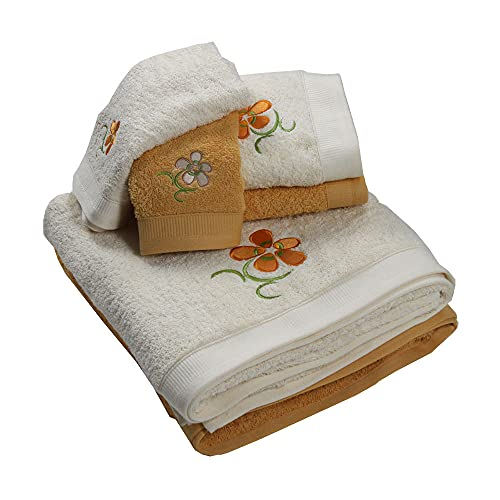 Westward Ho! 1135SA Floral - Juego de toallas (6 piezas, 1 unidad), color amarillo