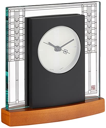 Bulova B7750 Glasner House Frankl Lloyd Wright Clock, Light Cherry...