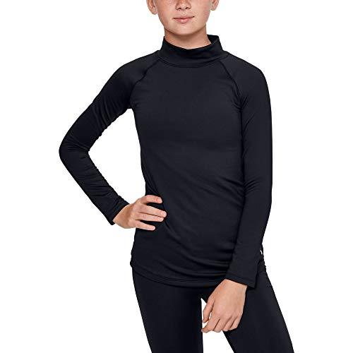 Under Armour - Fitness-Longsleeves für Mädchen in Black/Apollo Gray (001), Größe XS