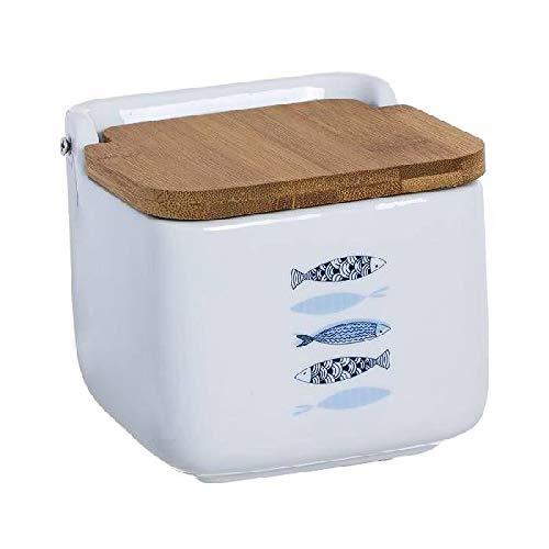 Dcasa Tapa bambú Saleros y pimenteros Fiambreras bento-Porta Alimentos Artículos para el hogar Unisex Adulto, Multicolor (Multicolor), única