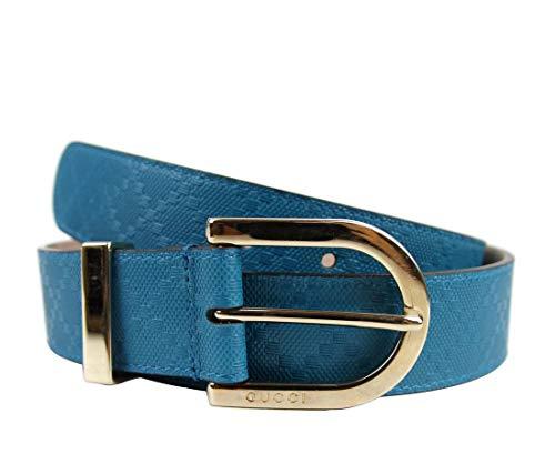 Gucci 354382 - Cinturón de piel para mujer, color azul turquesa