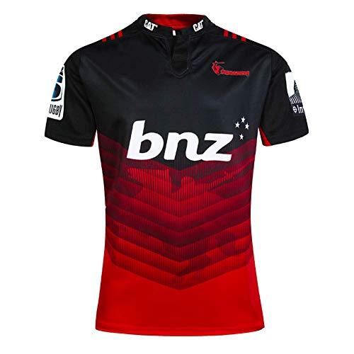 CJF Jersey Nouvelle-Zélande Maillot De Rugby Adapté À La Vie Quotidienne Ou Halloween, Occasions Spéciales Cadeaux,Noir,XXL