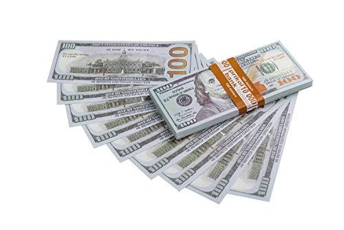 Olshop Fake Money Copy Money 100 Dollar Prop Money Realistic Double Sided Money Stacks 100PCs.
