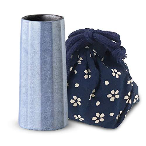 2ジー セレクト(2G Select) 花立 ブルー Φ4.2x9.2cm 仏壇 用 花瓶 凛空 花立 有田焼 Blue 小物入付