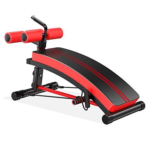XLSQW Decline Ab Workout Bench, Decline Exercise con Schienale Regolabile per Home Gym Inclinazione, per Sit ups Crunch Esercizio per i Muscoli Addominali