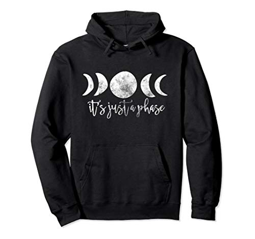 It's Just A Phase Pullover Hoodie Moon Phases Art Vintage - Hoodie For Men and Woman