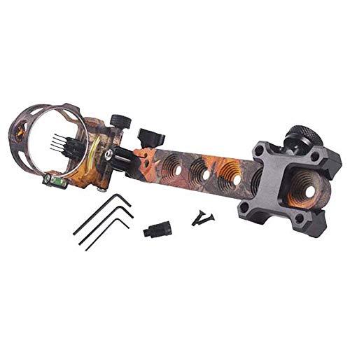 Tiro con Arco Arco Sight 5-Pin Long Pole Bow Bow Micro Ajuste con luz LED Camuflaje de luz