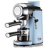 ZLQBHJ Máquina de café automática de 240 ml, máquina de Espresso, Bomba de presión de 5 Bar, cafetera 800W 240ml, Vaca expreso automático a la máquina de café de la Taza