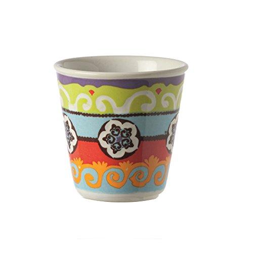 Rose en tulpen – R1330026RO beker koffie/likeur, 6 stuks