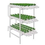 Kit De Cultivo Hidropónico, 3 Capas 108 Sitios De Planta 12 Tubos De PVC Hidropónicos Sistema De Crecimiento Pipeline Balcón Equipo De Cultivo Soilless con Bomba De Agua, para Verduras Frondosas