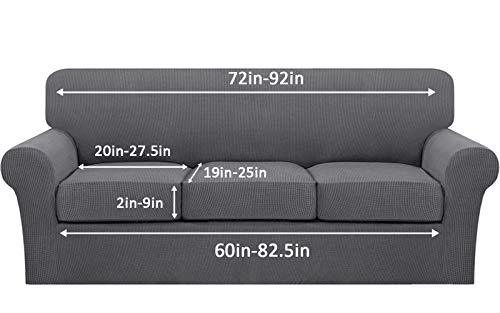 Stretch Sofa Slipcovers for 3 Seat Cushion Couch 4 Piece Sofa Slipcovers for 3 Seat Cushion Couch 4 Piece Couch Cover t Cushion Sofa Slipcovers 3 Seat Slipcovers for Furniture Sofa 3 Piece t Cushion