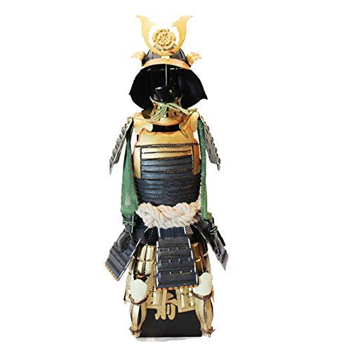 Vintage Warrior Oda Nobunaga Japonés Afirma Estados Pequeño Hierro Armadura Estatua Escultura Sengoku Samurai Modelo General Figurine Colección Metal Barra De Escritorio Decoración De Escritorio