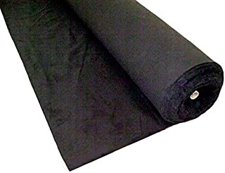 OnlineEEI, Black Duvetyne Brush Finished Fabric Bolt, 54 in Wide, 50 Yards Long
