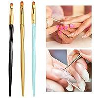 𝐂𝐡𝐫𝐢𝐬𝐭𝐦𝐚𝐬 𝐆𝐢𝐟𝐭 ネイルアートペン、組み立てが簡単で落ちにくい、ネイルペインティングブラシ、絶妙な職人技の長期使用サロンショップビューティーサロン家庭用マニキュアストア(Draw line pen)