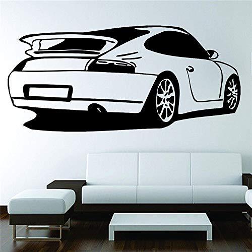 Coche deportivo Boy Racing Art Deco pintura de pared pegatina decoración sala de estar fondo pegatina de pared otro color 87x42cm