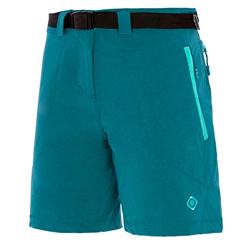 Izas Engla Pantalones Cortos Trekking, Mujer, Agua Marina/Verde mar, M