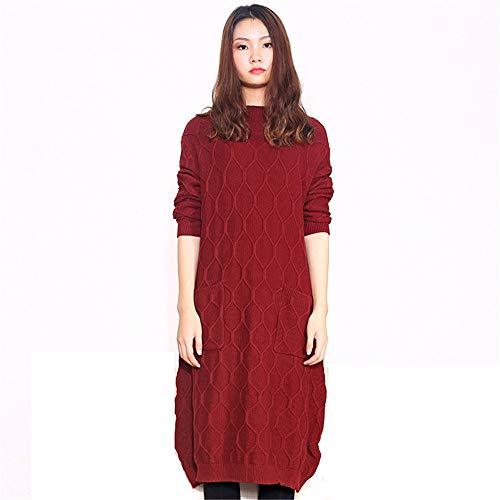Dames Avondjurk Plus Size Schroefhals Jurk met lange mouwen Knitwear Jurken Winkelen Reizen Vrouwen Vintage Swing Party Jurk