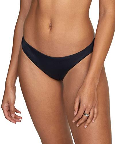 RVCA Women's Standard Swimsuit Bikini Bottom Cut, Cheeky Hipster Black, X-Large