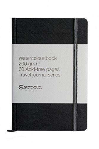 ESCODA Bloc Papel Acuarela A5 - Cuaderno Libreta Vertical 14x21cm Papel 200 gr 60 Páginas Serie L 200-20 Grano Fino Sketchbook.