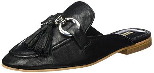 Buffalo London Damen 316-3459 Nappa LUX LEA Slipper, Schwarz (Black 01), 38 EU