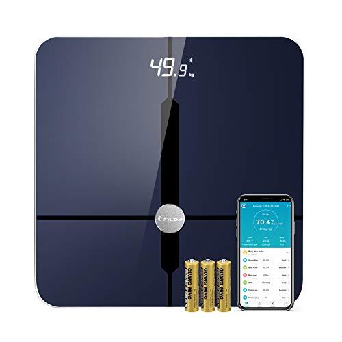 FYLINA Báscula Grasa Corporal Bluetooth con App Bascula de Baño Digital Grasa Corporal, 18 Medidas de Composición Corporal, Análisis de Composición Corporal de Medición de Alta Precisión ITO