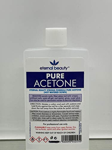 100% Pure Acetone Nail Polish Remover UV LED GEL Soak Off 100ML Eternal Beauty