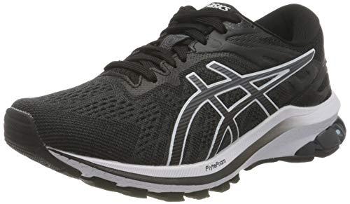 ASICS Damen GT-1000 10 Road Running Shoe, Black/White, 40.5 EU