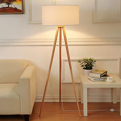 Lindby Dreibein Stehlampe 'Charlia' (Skandinavisch) in Weiß aus Textil u.a. für Wohnzimmer & Esszimmer (1 flammig, E27, A++) - Stehleuchte, Floor Lamp, Standleuchte, Wohnzimmerlampe, Tripod