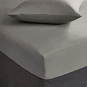 Linen Zone - Brushed Microfibre, Breathable, Anti-Wrinkle - Soft and Comfy (Grey, 2 Standard Pillow Cases)