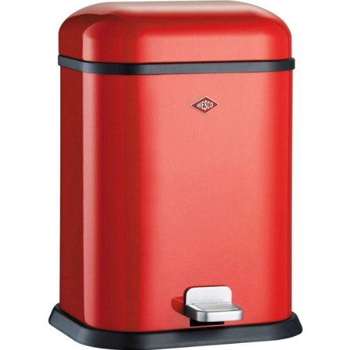 Wesco Single Boy 132 02 Pedal Bin Red by Wesco