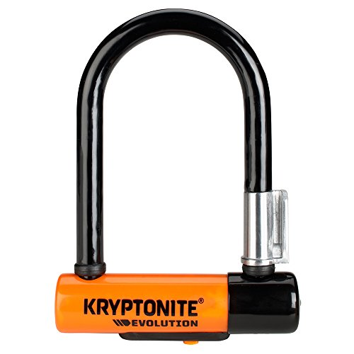 Kryptonite Evolution Mini-5 Fahrradschloss, Orange, 8 x 14 cm