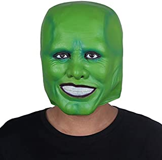 Halloween Party Cosplay Latex Mask Jim Carrey Costume Fancy Dress Famous Movie Film Props 'The Mask'