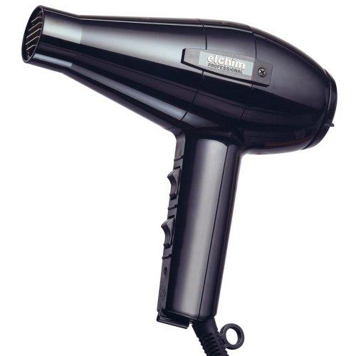 Elchim Classic 2001 Hair Dryer: Light 1875 Watt Quick Dry Professional Salon Blow Dryer - Black