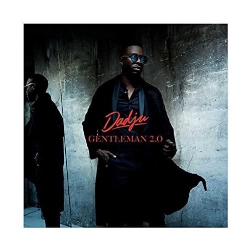 Couverture d'album Dadju - Gentleman 2.0 - Impression sur toile - Décoration murale pour salon, chambre à coucher - Sans cadre : 60 x 60 cm