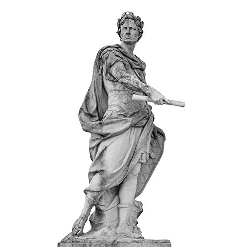 AOIWE Schwarzweiss-römischer Kaiser Julius Skulptur Caesar Statue Poster Leinwand Malerei Wandkunst Bilder für Wohnzimmer Dekoration