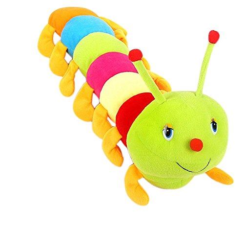 Dosige Oreiller de poupée en Forme de Caterpillar, poupée en Peluche, poupée de Chiffon, poupée créative, Cadeaux d'anniversaire pour Enfant, Motif Size 50 cm (coloré)