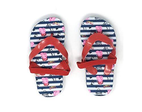 Peppa Pig Badeschuhe Pantolette Sandale Schuhe mit Riemen (24/25 EU, Peppa Wutz A01)