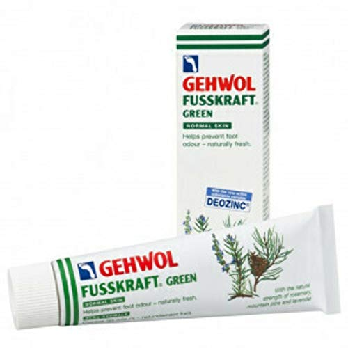 Gehwol Fusskraft Green 75ml - Refreshing Cooling Cream - Contains Menthol/Aloe Vera