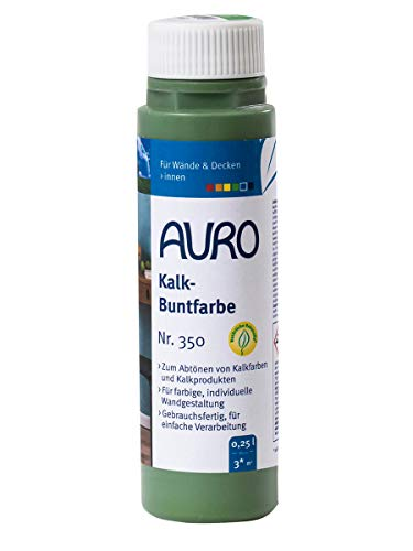 AURO Kalk-Buntfarbe Grün 0,25 L