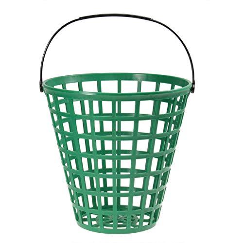 LIOOBO Cubo de plástico para Pelotas de Golf - Recipiente para Pelotas de Golf con asa - Canasta de Golf Grande - Las bodegas contienen 100 Pelotas