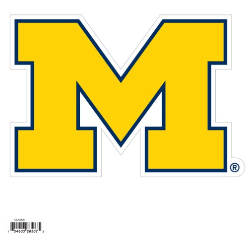 NCAA Siskiyou Sports Fan Shop Michigan Wolverines Logo Magnets 8 inch sheet Team Color