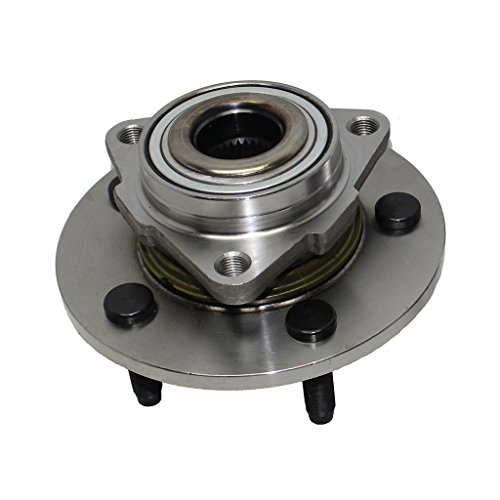 Detroit Axle - 515072 Front Wheel Hub and Bearing Assembly Driver or Passenger Side for 2002 2003 2004 2005 2006 2007 2008 Dodge Ram 1500 No ABS