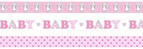 Ursus 58810014 Masking Tape Baby Girl, 3 Rollen 15 mm x 10 m