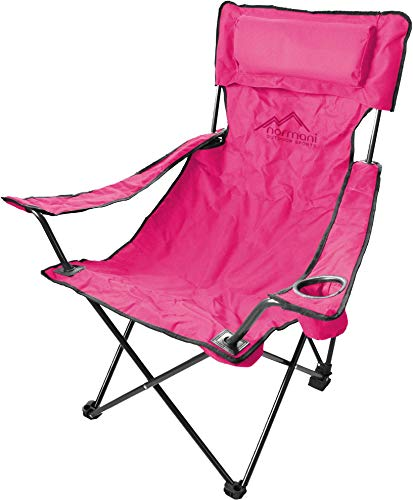normani Robuster Camping Outdoor Angler Klappstuhl Outdoor Farbe Rosa Deluxe